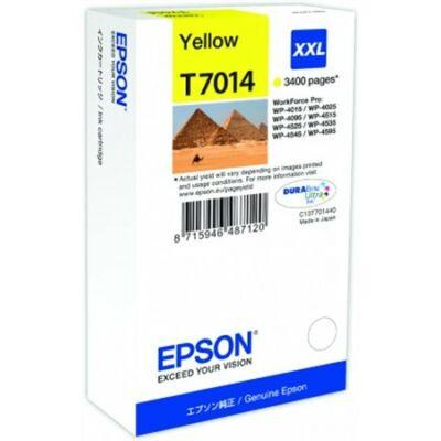 Epson T7014 Y XXL eredeti tintapatron (sárga) 3400 oldalas! (≈3400oldal)
