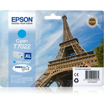 Epson T7022 C XL eredeti tintapatron (cián) 2000 oldalas (≈2000oldal)