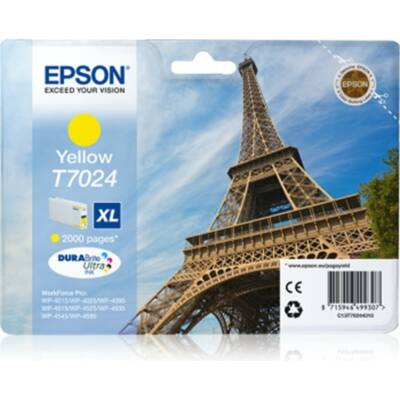 Epson T7024 Y XL eredeti tintapatron (sárga) 2000 oldalas (≈2000oldal)