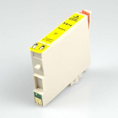 Epson -hoz, T0614 Y (sárga) utángyártott tintapatron  (≈400oldal)