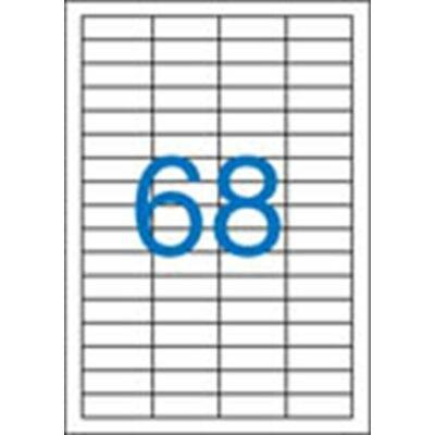 4 pályás etikett, 48,5x16,9mm, 6800 etikett/csomag VICTORIA
