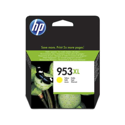 HP Nr.953XL (F6U18AE) eredeti sárga tintapatron, ~1600 oldal