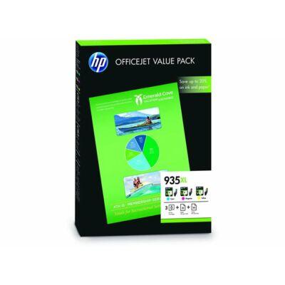 HP Nr.935XL (F6U78AE) eredeti (cián-magenta-sárga) tintapatron multipakk +75ív papír, ~2475 oldal