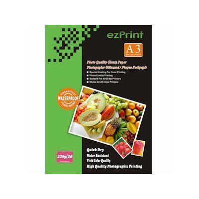 Fotópapír, ezPrint A3, fényes, 230g, 20ív/csomag (tintasugaras)