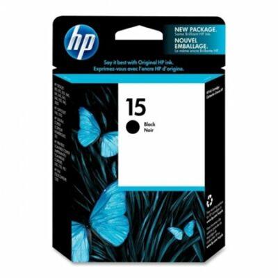 HP Nr.15 (C6615DE) eredeti fekete tintapatron, ~800 oldal