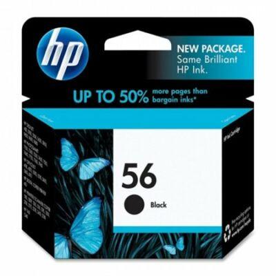 HP Nr.56 (C6656AE) eredeti fekete tintapatron, ~450 oldal