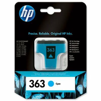 HP Nr.363 (C8771EE) eredeti cián tintapatron, ~400 oldal