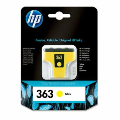 HP Nr.363 (C8773EE) eredeti sárga tintapatron, ~400 oldal