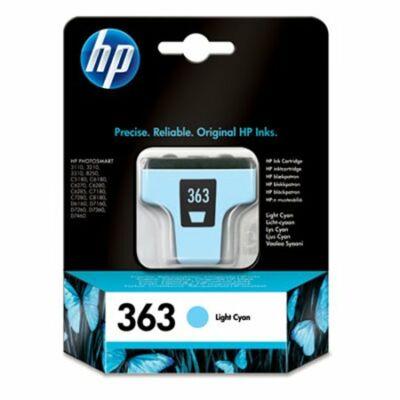 HP Nr.363 (C8774EE) eredeti világos cián tintapatron, ~400 oldal