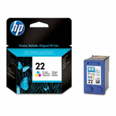 HP Nr.22 (C9352AE) eredeti színes tintapatron, ~165 oldal