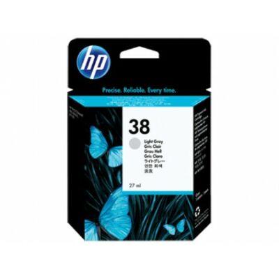 HP Nr.38 (C9414A) eredeti világos szürke tintapatron, ~320 oldal