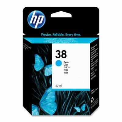 HP Nr.38 (C9415A) eredeti cián tintapatron, ~4700 oldal