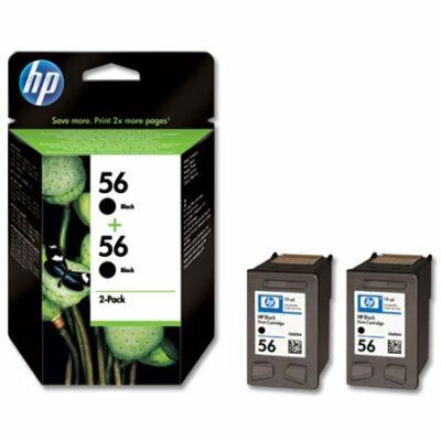 HP Nr.56 (C9502AE) eredeti  fekete tintapatron duopakk, ~900 oldal
