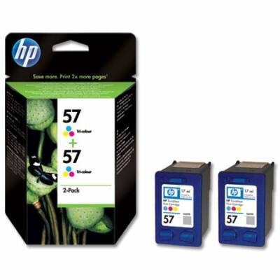 HP Nr.57 (C9503AE) eredeti színes tintapatron duopakk, ~800 oldal