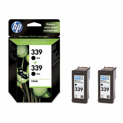 HP Nr.339 (C9504EE) eredeti fekete tintapatron duopakk, ~1720 oldal