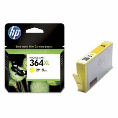HP Nr.364XL (CB325EE) eredeti sárga tintapatron, ~750 oldal