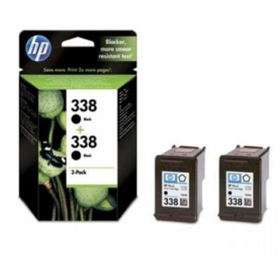 HP Nr.338 (CB331EE) eredeti fekete tintapatron duopakk, ~960 oldal