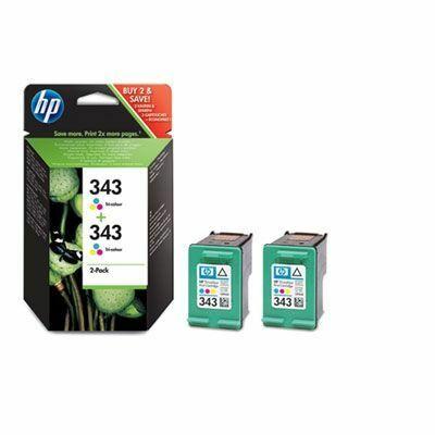 HP Nr.343 (CB332EE) eredeti színes tintapatron DUOpakk, ~660 oldal