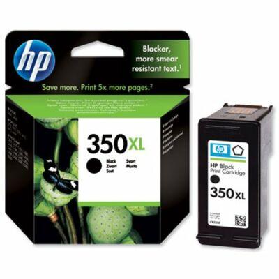 HP Nr.350XL (CB336EE) eredeti fekete tintapatron, ~750 oldal