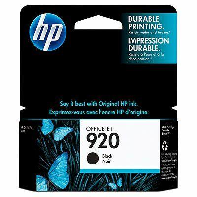 HP Nr.920 (CD971AE) eredeti fekete tintapatron, ~420 oldal