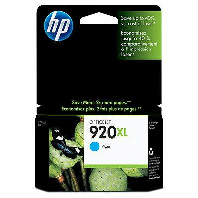 HP Nr.920XL (CD972AE) eredeti cián tintapatron, ~700 oldal