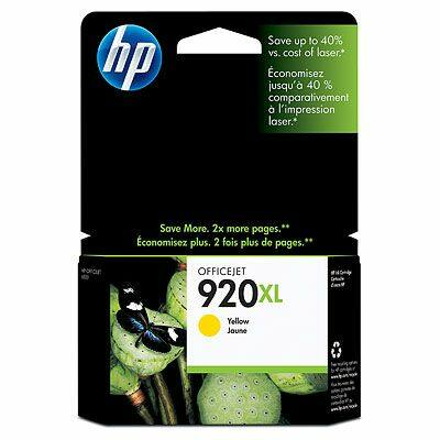 HP Nr.920XL (CD974AE) eredeti sárga tintapatron, ~700 oldal