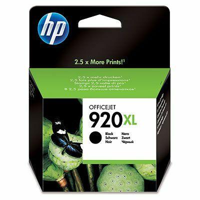 HP Nr.920XL (CD975AE) eredeti fekete tintapatron, ~1200 oldal