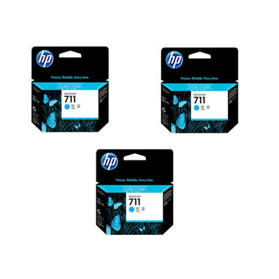 HP Nr.711 (CZ134A) eredeti cián tintapatron triopakk, ~2610 oldal