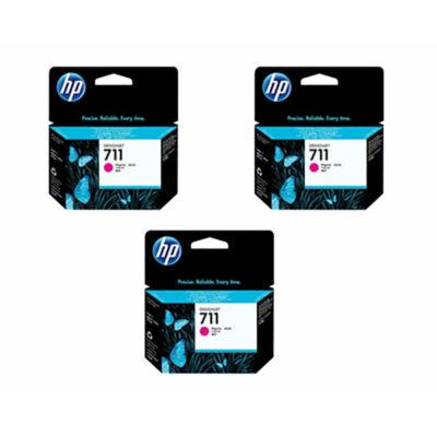 HP Nr.711 (CZ135A) eredeti magenta tintapatron triopakk, ~2610 oldal