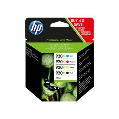 HP Nr.920XL (C2N92A) eredeti (fekete-cián-magenta-sárga) tintapatron multipakk, ~3300 oldal