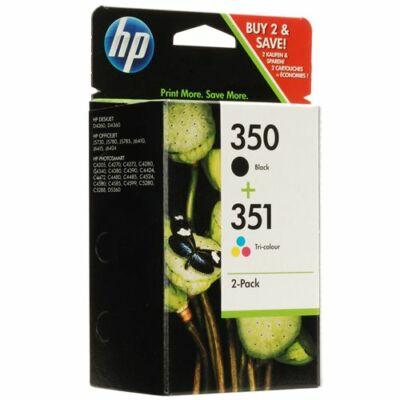 HP Nr.350/351 (SD412EE) eredeti (fekete-színes) tintapatron multipakk, ~370 oldal