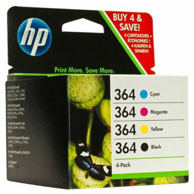 HP Nr.364 (SD534E/J3M82AE/N9J73AE)  eredeti (fekete-cián-magenta-sárga) tintapatron multipakk, ~1150 oldal