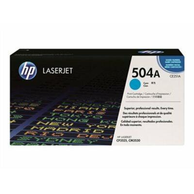 HP CE251A (504A) cián eredeti toner (≈7000 oldal)