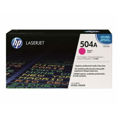 HP CE253A (504A) magenta eredeti toner (≈7000 oldal)