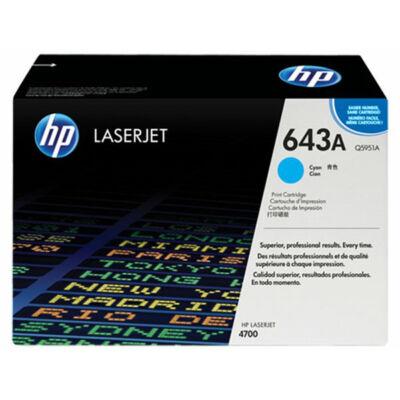 HP Q5951A (643A) cián eredeti toner (≈10000 oldal)