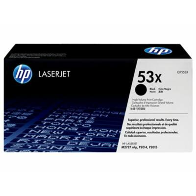 HP Q7553X (53X) fekete eredeti toner (≈7000 oldal)