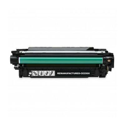 Utángyártott CE250X BK (fekete) toner HP nyomtatókhoz (≈10500 oldal)