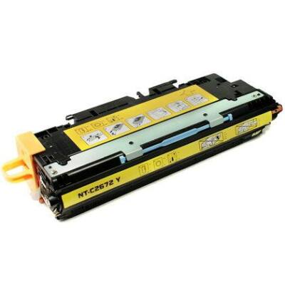 Utángyártott Q2672 sárga toner HP nyomtatókhoz (≈4000 oldal)