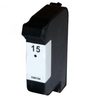 HP -hez Nr.15 (C6615D) utángyártott fekete tintapatron, ~900 oldal