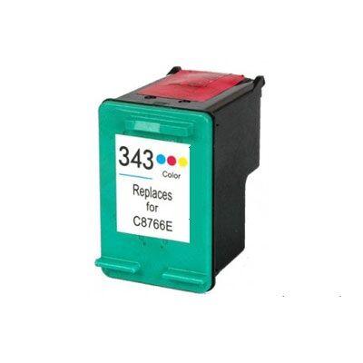 HP -hez Nr.343 (C8766E) utángyártott színes tintapatron, ~510 oldal
