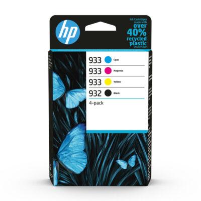 HP Nr.932/933 (6ZC71AE) eredeti (fekete-cián-magenta-sárga) tintapatron multipakk,  ~ 1390  oldal
