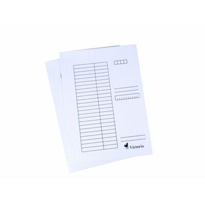 Pólyás dosszié, karton, A4, VICTORIA, fehér (25db) (Nem lefűzős.)