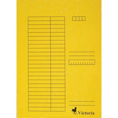 Pólyás dosszié, karton, A4, VICTORIA, sárga (5db) (Nem lefűzős.)