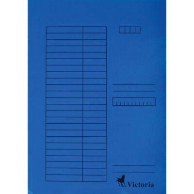 Pólyás dosszié, karton, A4, VICTORIA, kék (5db) (Nem lefűzős.)