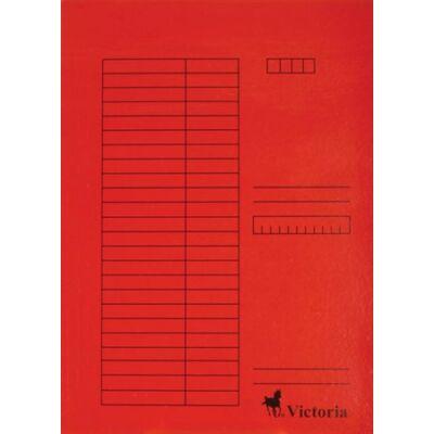 Pólyás dosszié, karton, A4, VICTORIA, piros (5db) (Nem lefűzős.)