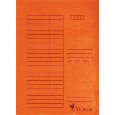 Pólyás dosszié, karton, A4, VICTORIA, narancs (5db) (Nem lefűzős.)