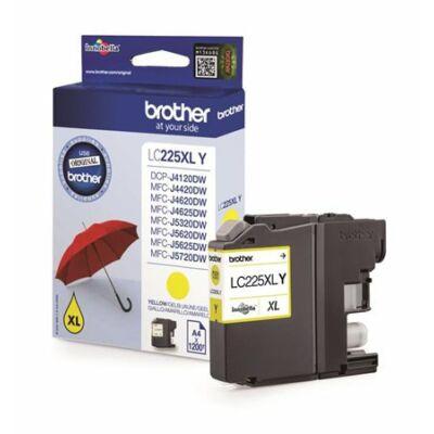 Brother LC225XL Y (sárga) eredeti tintapatron