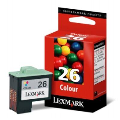 Lexmark Nr.26 (10N0026E) eredeti színes tintapatron, ~275 oldal