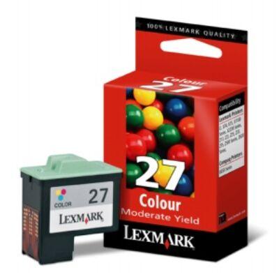 Lexmark Nr.27 (10NX227E) eredeti színes tintapatron, ~229 oldal