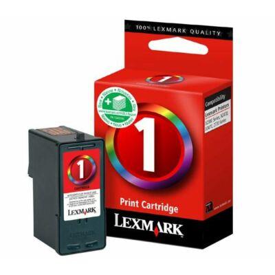 Lexmark Nr.1 (18CX781) eredeti színes tintapatron, ~130 oldal